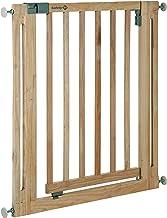 Safety 1st Easy Close Wood Barrera de seguridad de Madera, puerta de seguridad 73 cm hasta 96, 5 cm con extensiones, para niños y perros, color madera natural