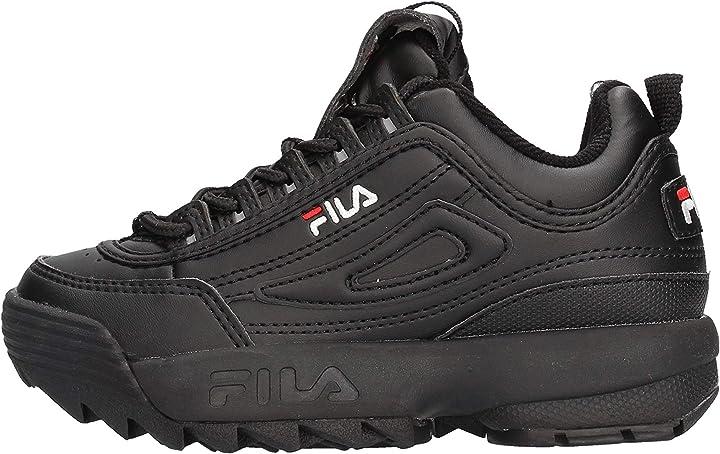 Fila distruptor kids scarpa 1010567 bambino nero B08ZXJY417