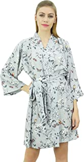Bimba Women's Floral Printed Georgette Bridesmaid Getting Ready Coverup