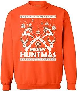 Unisex Merry Huntmas Sweatshirt Ugly Christmas Sweaters for Hunters
