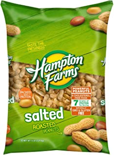 LJIF Whole Hampton Farms Raw Peanuts Salted & Roasted In Shell Shelled (1) 10 Ounce Bags