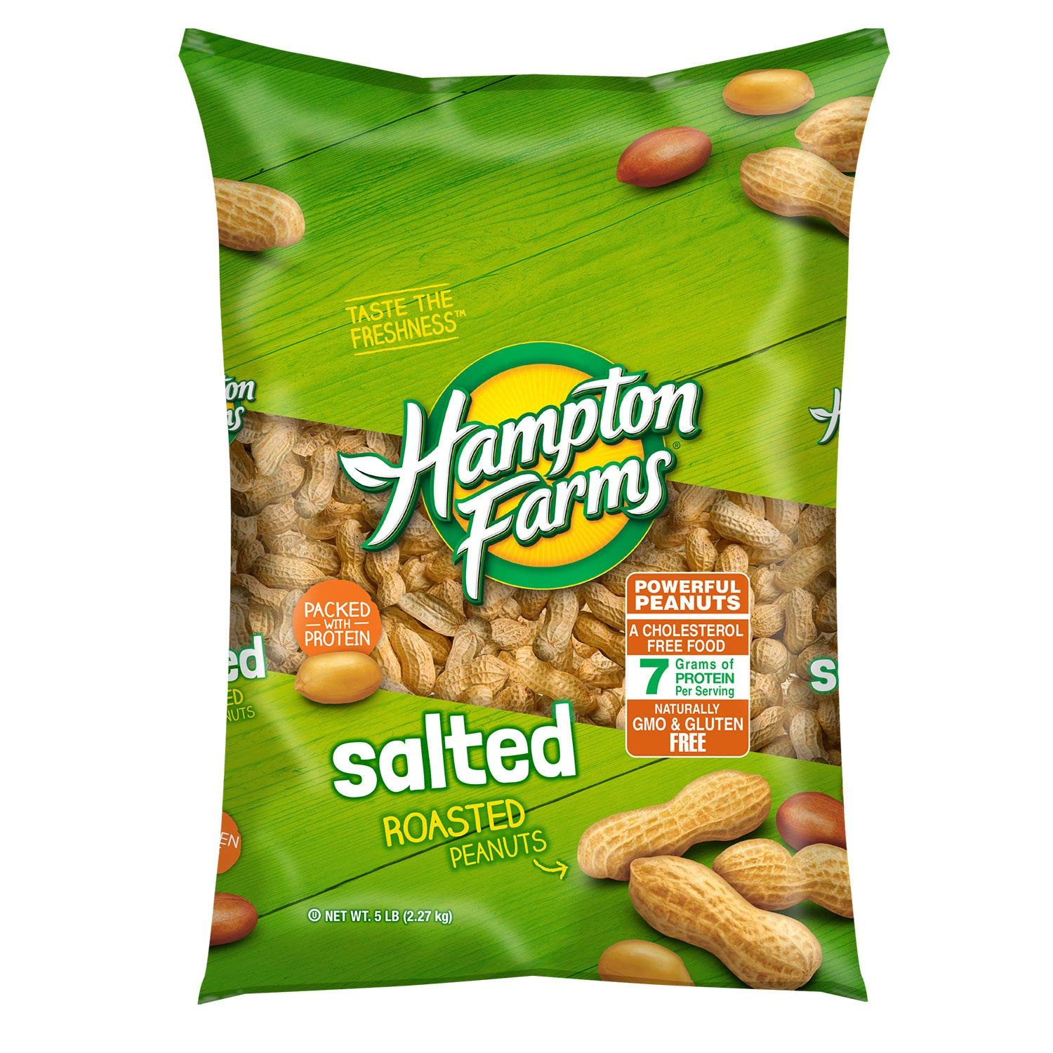 Hampton Farms Salted In-Shell Peanuts NEW before selling ☆ 5 Product 3 A1 lbs. pack of