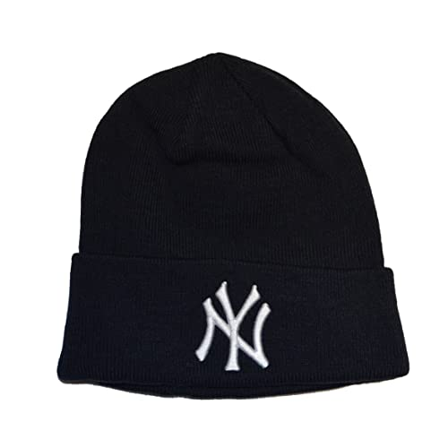 b1be26282ca New York Yankees Blue Beanie Hat - MLB Cuffed Winter Knit Cap