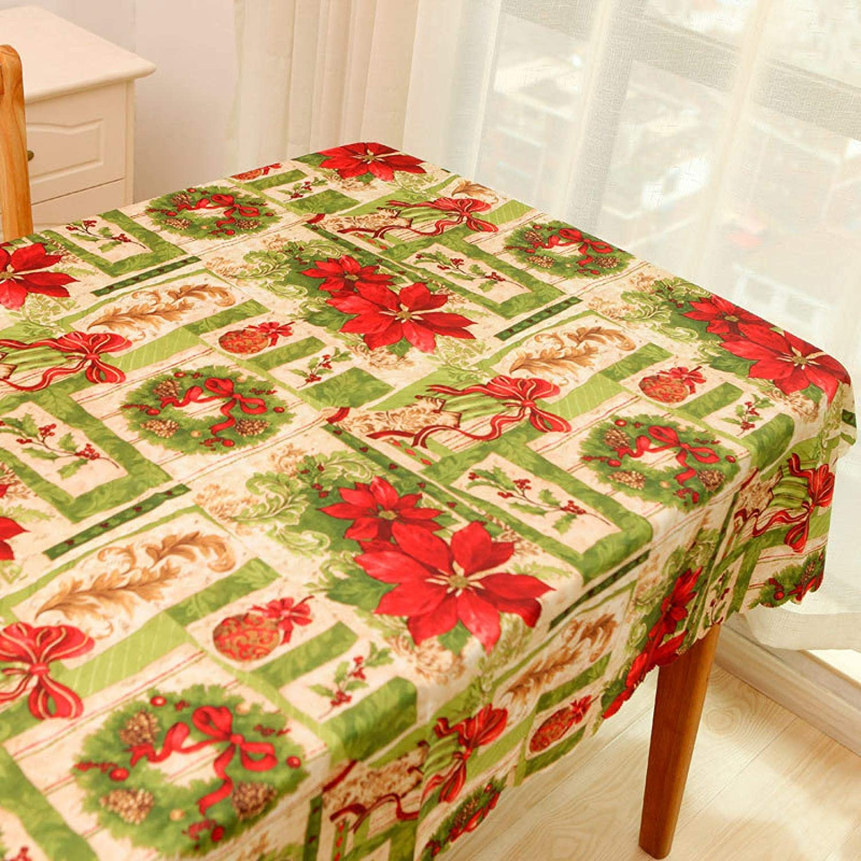 Gcxzb Luxury Tablecloths Christmas Ribbon Rectangu Many popular brands Household Patterns