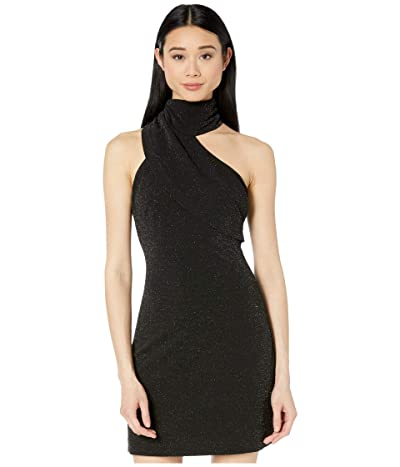 ONE33 Social Twinkle Crepe Fitted Asymmetrical Cocktail Dress