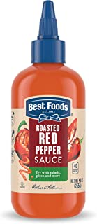 Best Foods Sauce For A Delicious Condiment, Dip and Dressing Roasted Red Pepper Gluten Free, Dairy Free, No Artificial Fla...