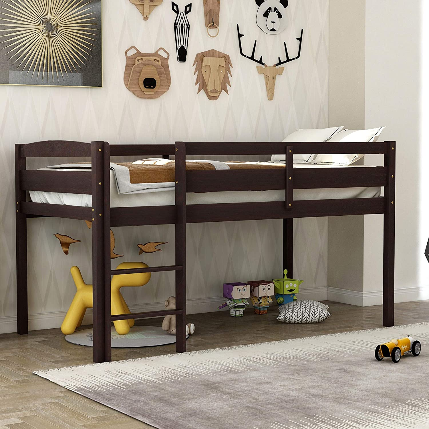 Twin Loft Bed Sacramento Ranking integrated 1st place Mall with Desk Frame Study Cab Low