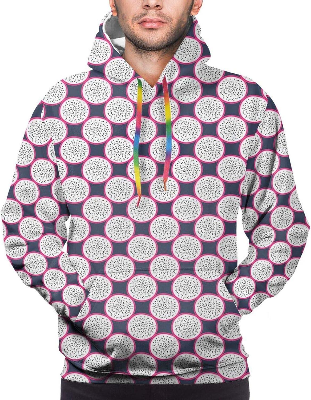 Men's Hoodies Sweatshirts,Repetitive Pattern of Grunge Pastel Paint Brushstrokes in Print