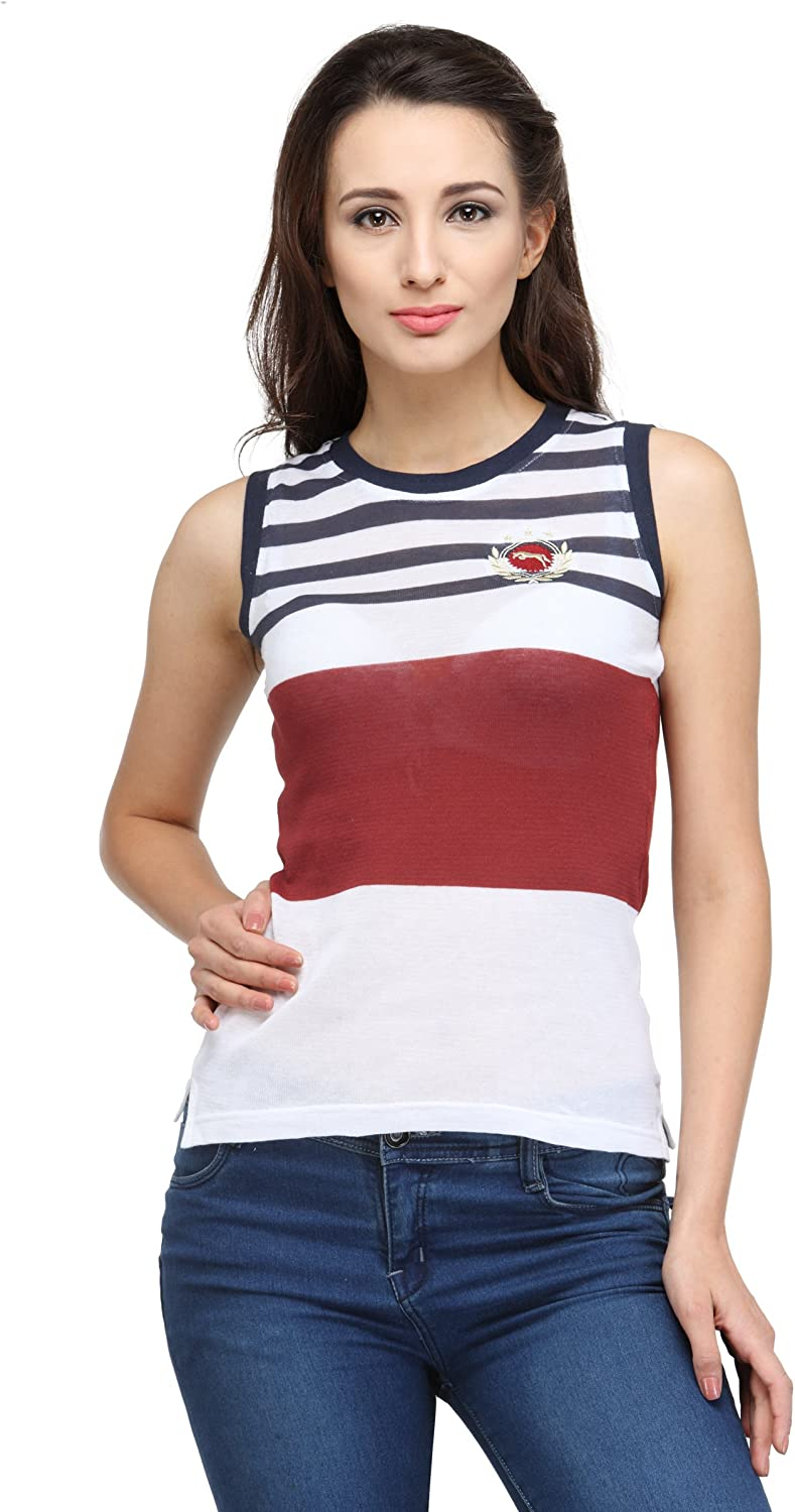JUMP USA Candy Top Ladies Sleeveless Relaxed Fit TShirt
