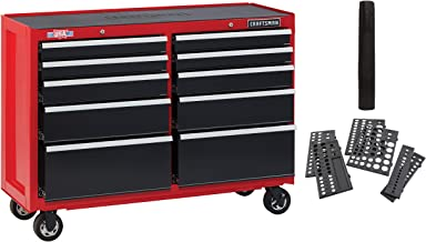 CRAFTSMAN Tool Cabinet, 52-Inch, 10 Drawer, Red (CMST82775RB)