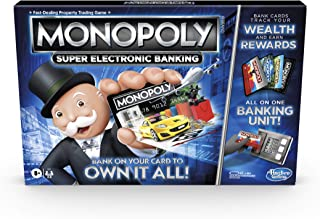 Monopoly Super Electronic Banking Board Game, Electronic Banking Unit, Choose Your Rewards, Cashless Gameplay Tap Technolo...