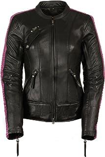 Milwaukee Leather Women`s Embossed Phoenix Jacket (Black/Fuchsia, X-Large)