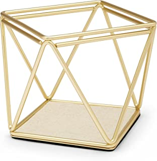 Umbra Prisma Accessory Organizer - Geometric Jewelry Organizer and Jewelry Holder, Great for Storing and Displaying All Types of Jewelry, Matte Brass