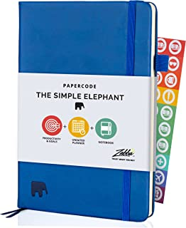 Papercode Daily Planner 2021-2022 - Simple Elephant Undated Daily, Weekly, and Monthly Calendar Planner for Productivity &...