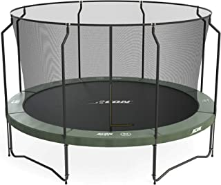 Acon Air 4.3 Trampoline 14ft with Premium Enclosure | Includes 14ft Round Trampoline and Premium Safety Net | 96 Heavy Duty 8.5in Springs