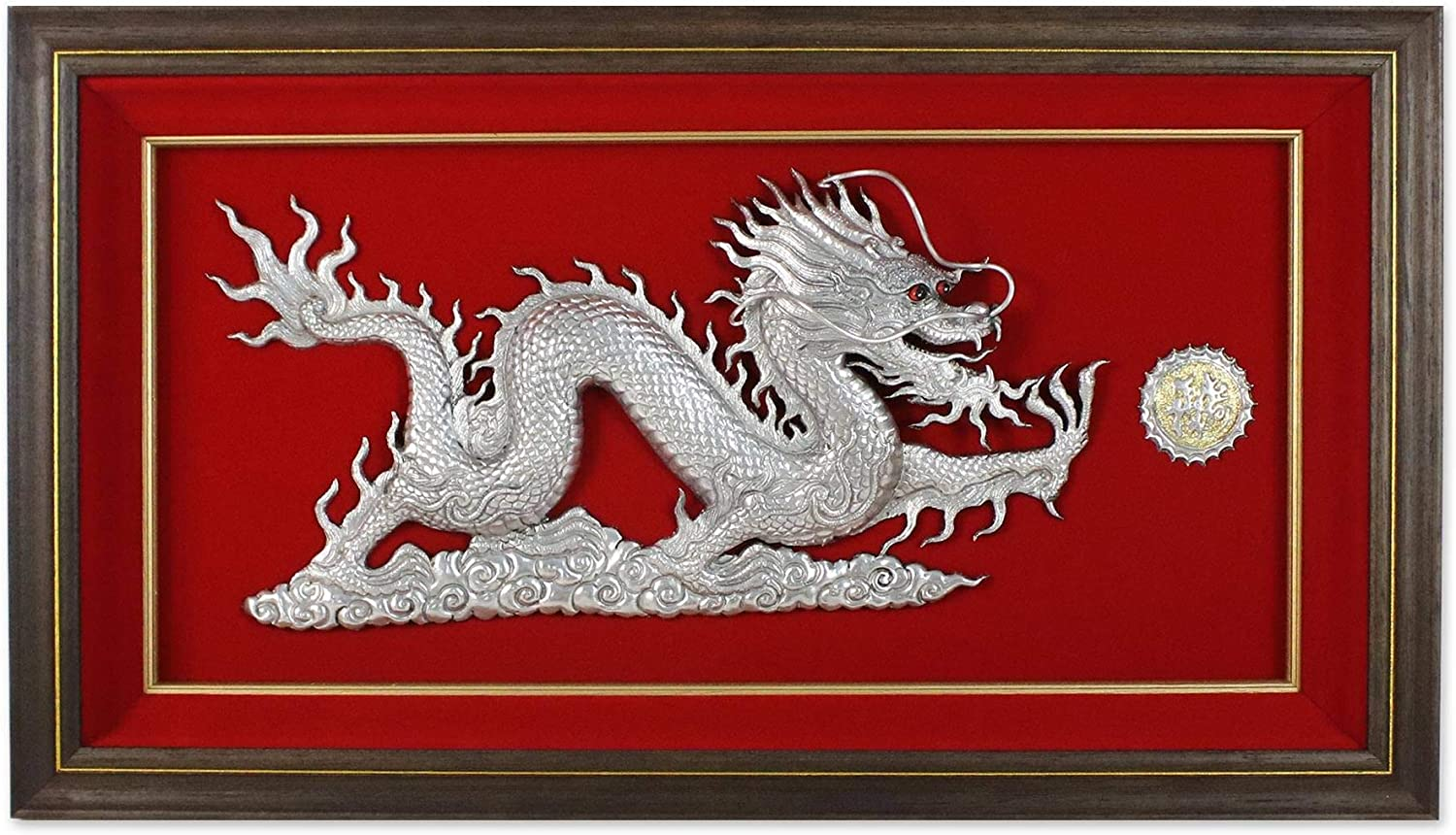 NOVICA Large Aluminum Relief Las Vegas Mall Al sold out. Panel Sculpture Metall Dragon Wall