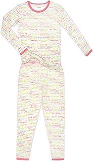Calvin Klein 女童睡衣长袖裤子 2 件套