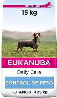 Eukanuba Daily Care Alimento seco para perros adultos de raza pequeña y mediana, receta de control de peso con pollo fresc...