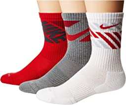 Nike - Dry Cushion Graphic Crew Training Socks 3-Pair Pack