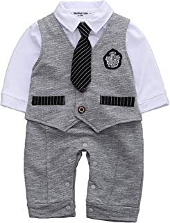 onesie with a tie