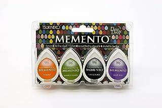 Tsukineko 4-Pack Assortment Memento Dew Drops Fade-Resistant Ink, Jelly Beans