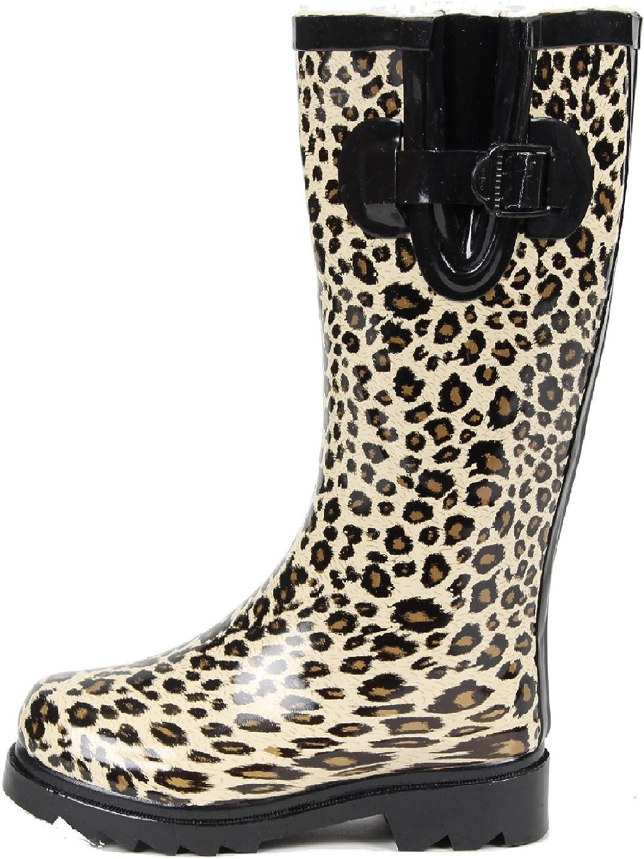 Gilbins Women Rubber Fur Lined Rain Boots  Snow Boots. Waterpro