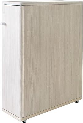 宮武製作所 トイレラック Porte 幅16x奥45x高さ62cm ホワイト キャスター付き TR-160 WH
