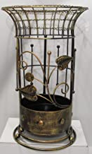 Antique Style Round Gold Bronze Brown Umbrella Stand Rack Free Standing for Canes - Walking Sticks