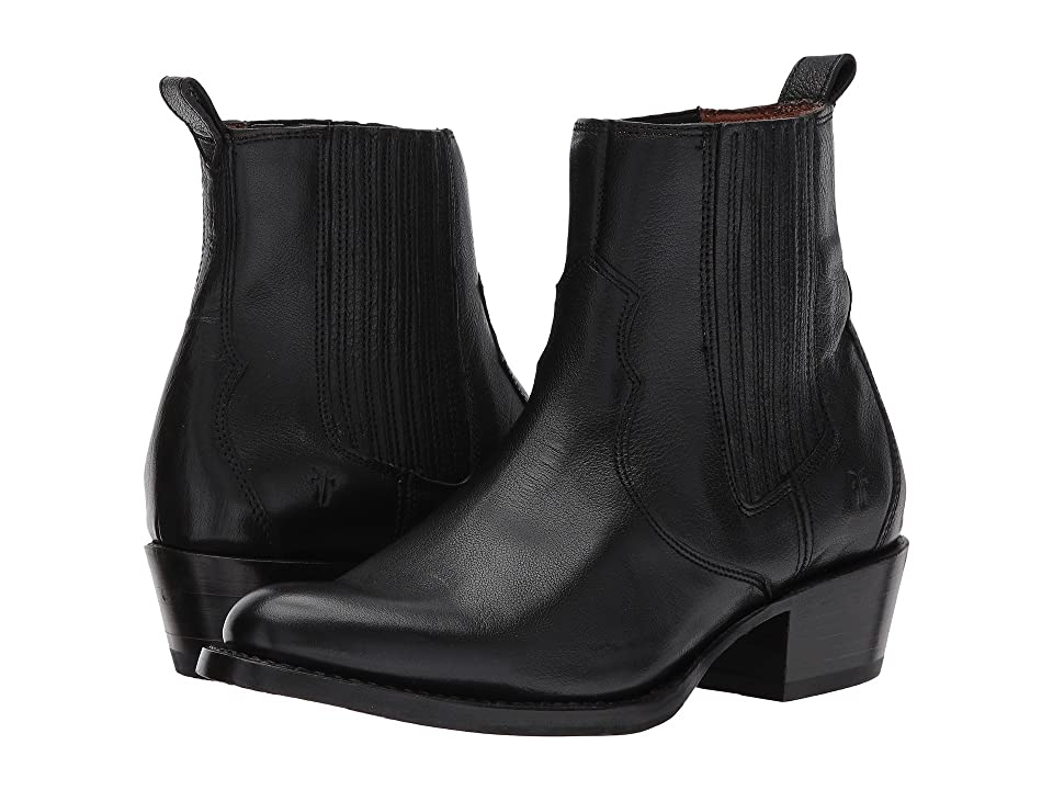 Frye Diana Chelsea (Black Pebbled Buffalo) Women