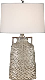 Manhattan Collection Naxos 1 Light Table Lamp In Charring Cream Glaze