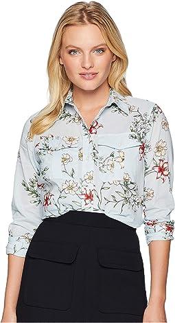 Petite Floral Cotton Shirt