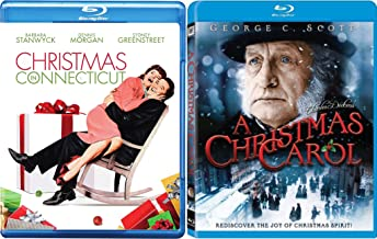 A New England Christmas Blu-ray Bundle - Christmas in Connecticut & Charles Dickens A Christmas Carol 2-Movie Holiday Collection