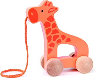 Hape Giraffe Wooden Push and Pull Toddler Toy