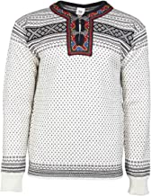 DALE OF NORWAY Men's Setesdal Unisex Sweater A-Off-White/Black Small