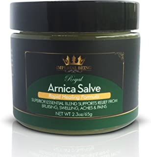 ROYAL ARNICA SALVE, Rapid Healing Formula, Highest Potency Arnica Oil for Bruises, Fast Relief for Muscle Aches & Pain, Super Premium Massage Blend, Organic Essential Oils, Herbs & Minerals (2.3 oz)