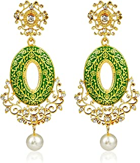 Crunchy Fashion Bollywood Style Stylish Traditional Indian Jewelry Jhumki Jhumka Earrings for Women