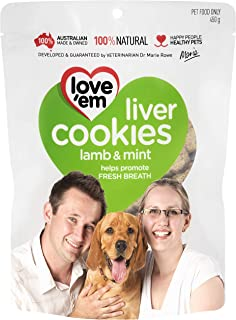 Love 'Em, Dog Treats, Liver Cookies 450 g