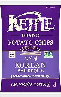 Kettle Brand Potato Chips, Korean Barbeque, 2 Ounce (Pack of 6)