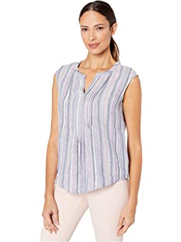 VINCE CAMUTO NEW Women/'s Floral-print Lace-up Camisole Blouse Shirt Top TEDO