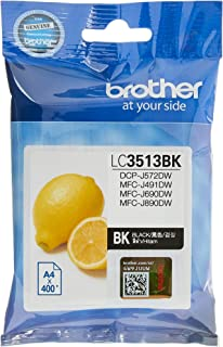 Brother LC3513BK Original Ink Cartridge Compatible with DCP/MFC Series, 400 Pages, Black