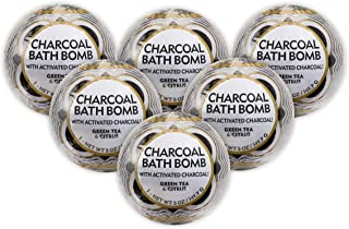 ME! Bath Activiated Charcoal Bath Bomb, Green Tea and Citrus, Crafted in the USA, 5 oz, 6 Count