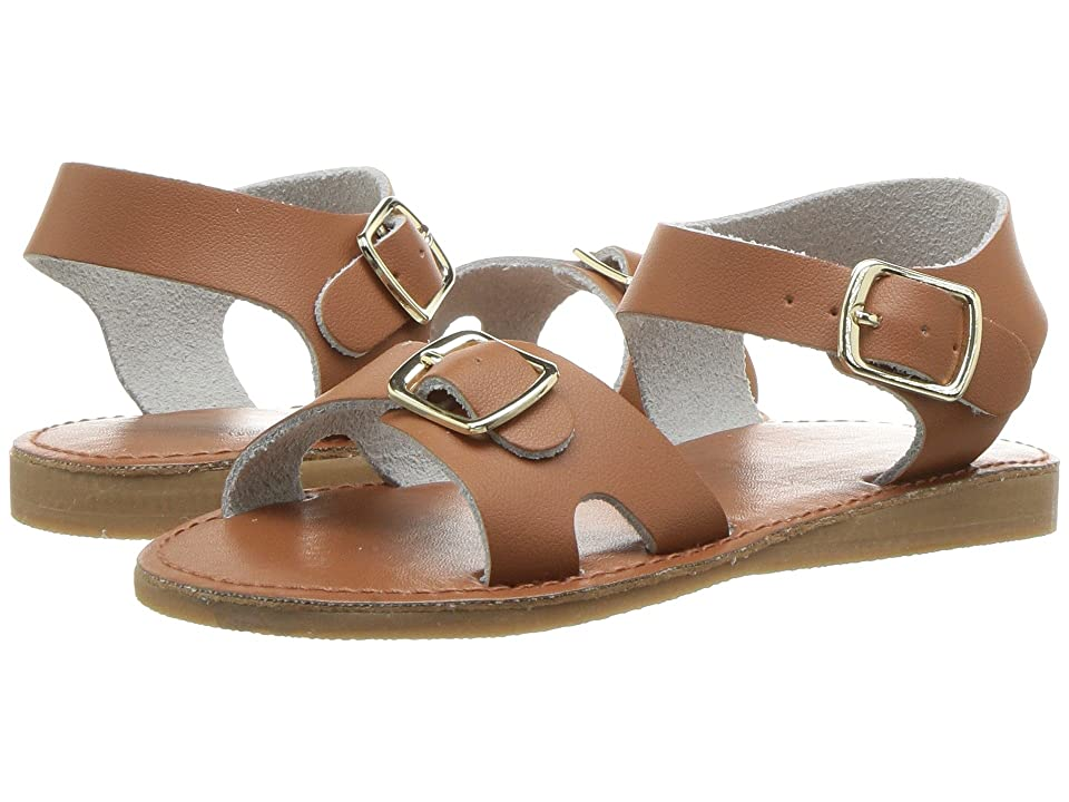 Baby Deer First Steps Classic Double Buckle Sandal (Infant/Toddler) (Tan) Girls Shoes
