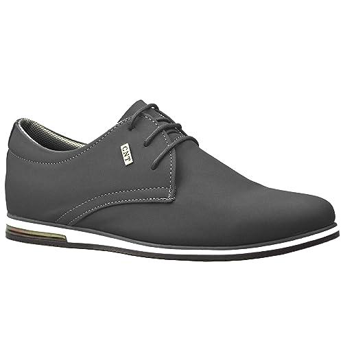 54044f34a2cc6 ClassyDude Zapatos de Hombre de Ante Casual