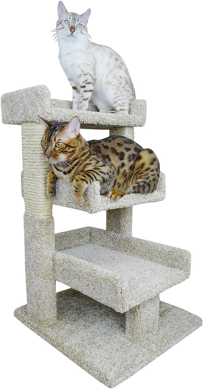 Amazon Com New Cat Condos Beige Large Kitty Cat Tree Perch Pet Supplies