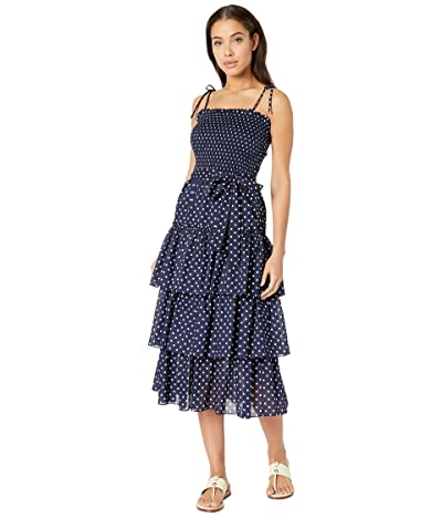 Tory Burch Swimwear Printed Ruffle Dress (Classic Dot) Women