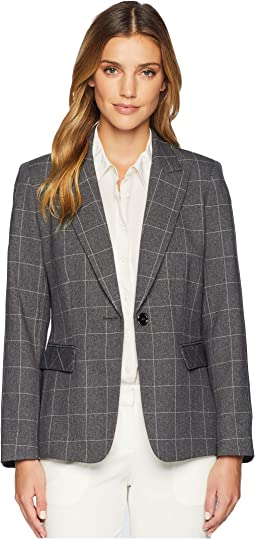 Novelty Windowpane Plaid Jacket