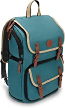 GOgroove Full-Size DSLR Photography Backpack Case (Green) for Camera and Laptop with 15.6 inch Laptop Space, Accessory Storage, Tripod Holder, Long-Lasting Durability and Weatherproof Rain Cover