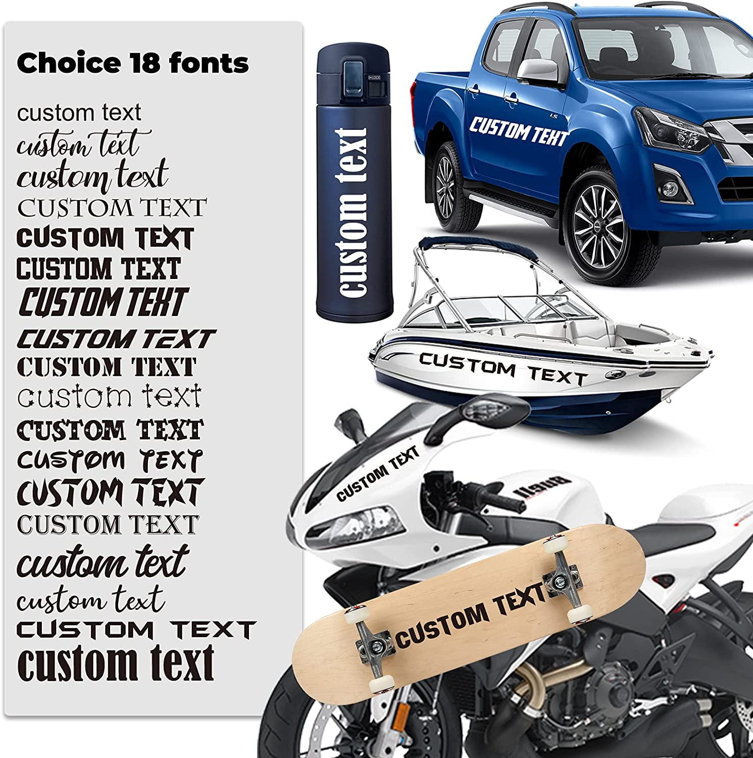 ZIHENG Design Custom Your Text 14 V lowest Our shop OFFers the best service price 18 Fonts Colors + Sizes