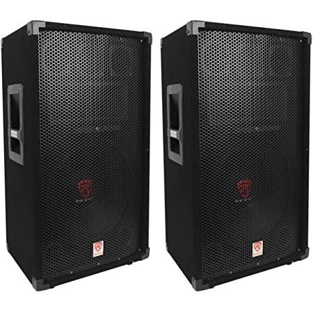 (2) Rockville RSG12 12 3-Way 1000 Watt 8-Ohm Passive DJ/Pro Audio PA Speaker