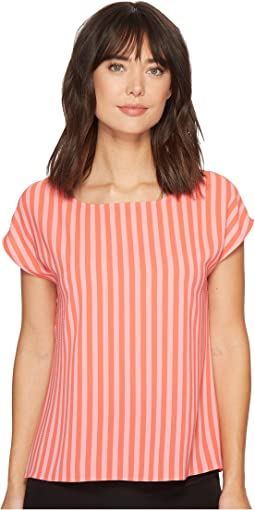Vince Camuto - Extend Shoulder Debut Mix Stripe Blouse